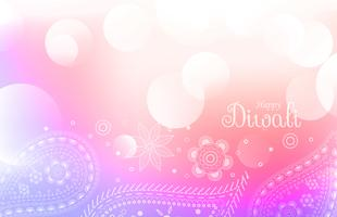soft colorful diwali greeting background