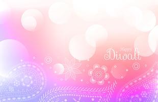 Fondo de saludo de diwali colorido suave