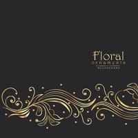 amazing golden floral background border design