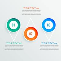 three steps circle options infographic