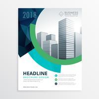 geweldige blauwe brochure sjabloon folderontwerp voor de presentatie
