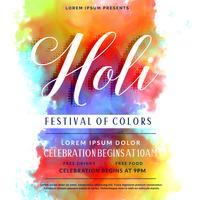 Gelukkig Holi viering uitnodiging achtergrond ontwerp