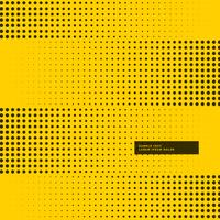 yellow background with black halftone dots
