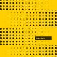 fond jaune avec des points de demi-teintes noirs