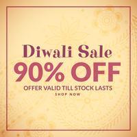 fond de diwali traditionnel avec bannière de vente