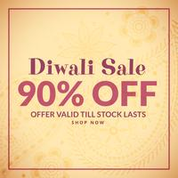 Fondo de diwali tradicional con banner de venta
