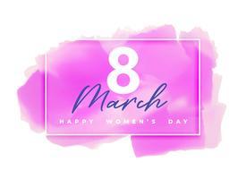 rosa akvarell bakgrund för lycklig kvinnodag