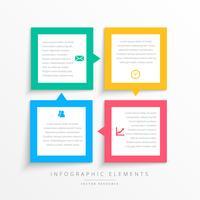 bunte Business Infografiken Schritte Rahmen