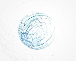 vecteur de treillis métallique bleu technologie circulaire