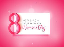 glad kvinna dag vacker rosa bakgrund