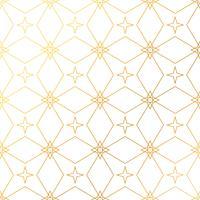 Fundo abstrato geométrico padrão dourado. Ba dourado sem emenda