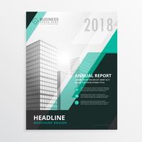 Informe anual azul folleto de diseño de folleto de negocios para empresas p