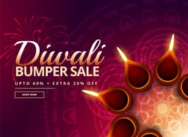 diwali sale with diya decoration