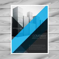 blå svart företags broschyrdesign