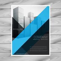 design de brochura de empresa preto azul