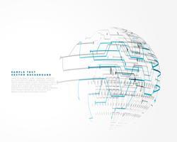 futuristisk teknik trådnät vektor bakgrund
