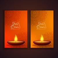 Shubh diwali verticale banners instellen