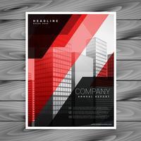 röd svart abstrakt företagsbroschyr mall design