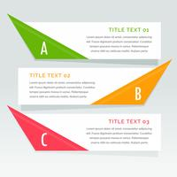 three steps infographic options banner