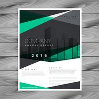 elegante design della brochure aziendale forma geometrica