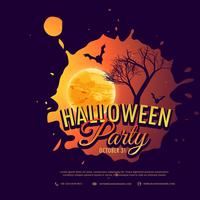 halloween party background design illustration