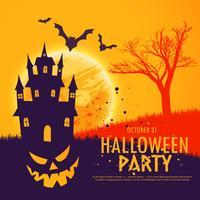 fundo de convite para festa de halloween assustador