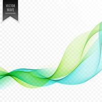grüner und blauer eleganter Wellenhintergrund