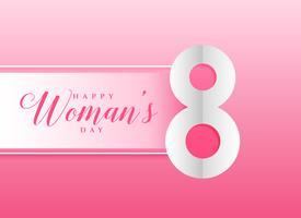 sfondo rosa per la festa della donna felice