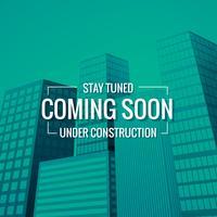 sstay sintonizado em breve texto com a construção no fundo