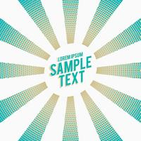 stylish blue rays with halftone effect background
