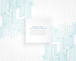 Fondo de diagrama de circuito azul tecnología vector