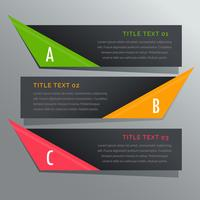 dark horizontal banners options infographic