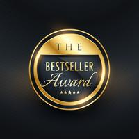 best seller award label design distintivo per il tuo prodotto