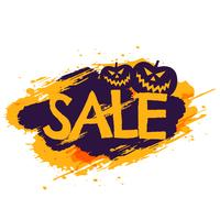 halloween sale banner with pumpkins