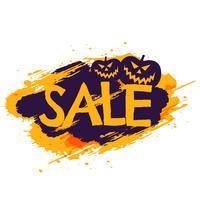 banner de venta de halloween con calabazas