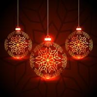 Festival de Navidad increíble saludo con tres g colgando