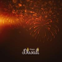 joyeux feu d'artifice de diwali