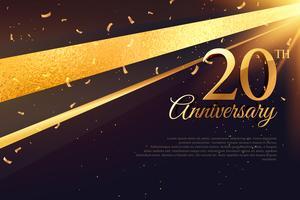 Modèle de carte de célébration du 20e anniversaire