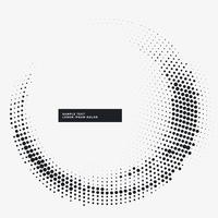 minimal halftone circular frame background