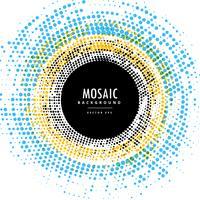 effet de fond de cercle abstrait mosaïque