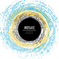 abstrakter Kreis-Mosaik-Hintergrundeffekt