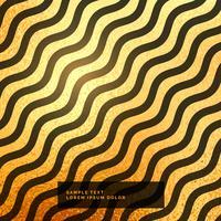 fundo padrão ondulado de ouro e preto