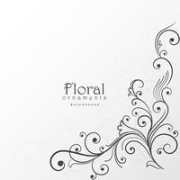 vacker blommig design bakgrundsdekoration