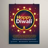 glad diwali festival inbjudan hälsning mall