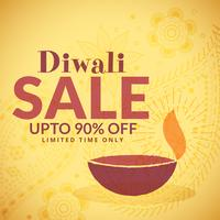 diwali sale banner poster with diya