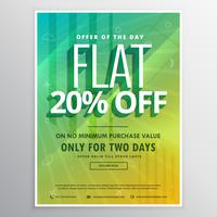 modèle d'affiche flyer brochure discount et vente pour la publicité