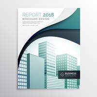 Resumen de informe anual ondulado folleto diseño de plantilla de volante