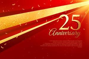 Modello di carta celebrazione 25 ° anniversario