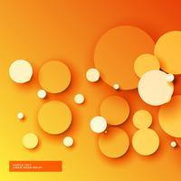 fondo naranja brillante círculos 3d
