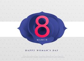 elegant 8th march happy women's day background